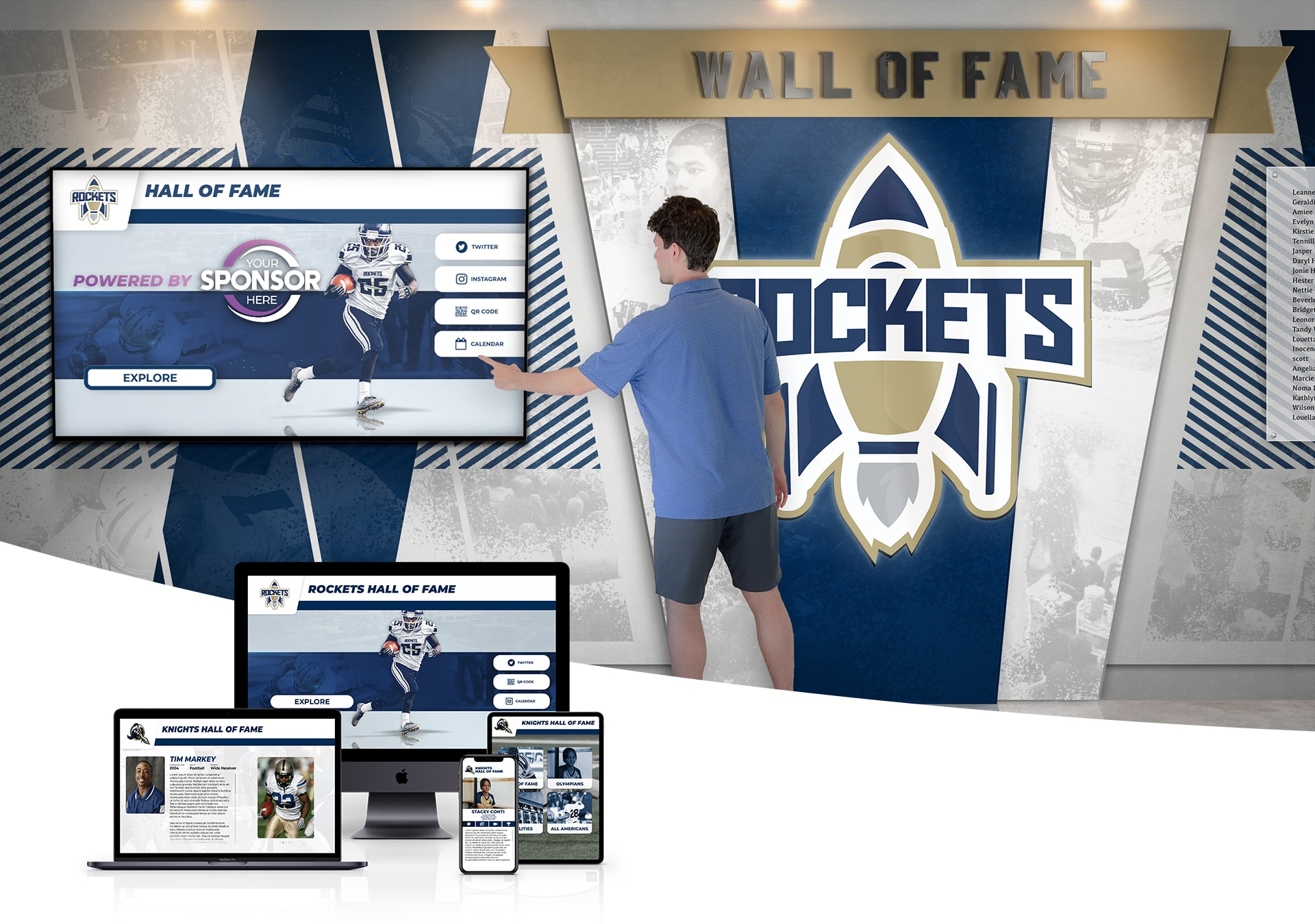 Touchscreen Hall of Fame for a Digital Wall of Fame
